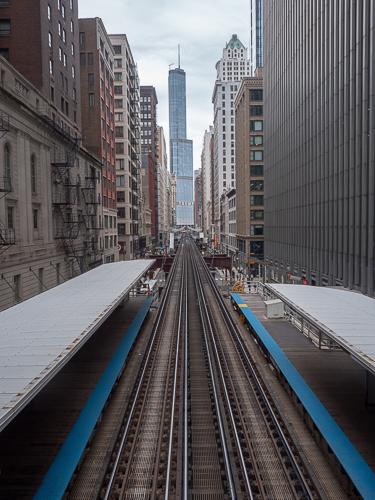 Chicago El tracks